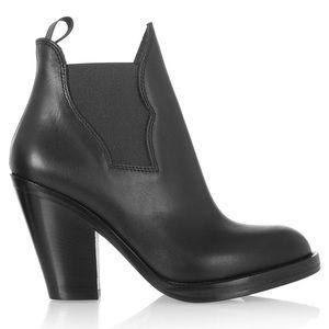 Acne Studios Star black ankle booties
